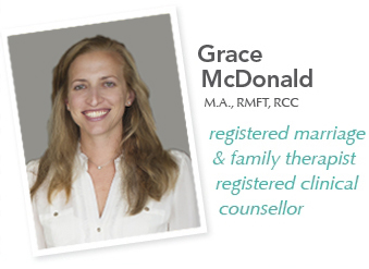 Grace McDonald registered marriage and family therapist and registered clinical counselor White Rock and Surrey